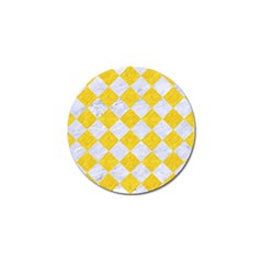 Square2 White Marble & Yellow Colored Pencil Golf Ball Marker (4 Pack) by trendistuff