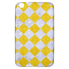 Square2 White Marble & Yellow Colored Pencil Samsung Galaxy Tab 3 (8 ) T3100 Hardshell Case  by trendistuff