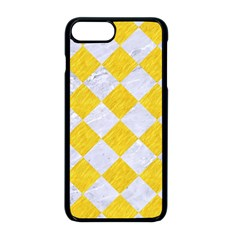 Square2 White Marble & Yellow Colored Pencil Apple Iphone 8 Plus Seamless Case (black) by trendistuff