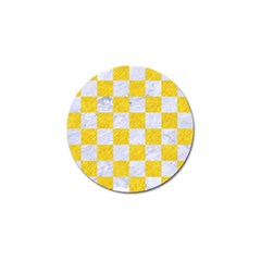 Square1 White Marble & Yellow Colored Pencil Golf Ball Marker (10 Pack) by trendistuff
