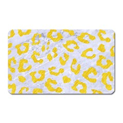 Skin5 White Marble & Yellow Colored Pencil Magnet (rectangular) by trendistuff