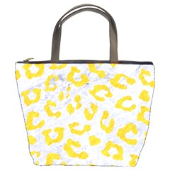 Skin5 White Marble & Yellow Colored Pencil Bucket Bags by trendistuff