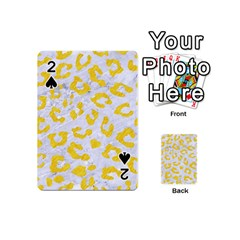 Skin5 White Marble & Yellow Colored Pencil Playing Cards 54 (mini)  by trendistuff