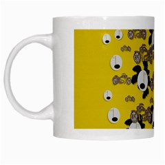 Bikers Out Singing In Spring Time White Mugs by pepitasart