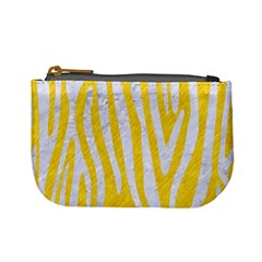 Skin4 White Marble & Yellow Colored Pencil (r) Mini Coin Purses by trendistuff