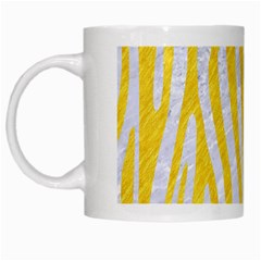 Skin4 White Marble & Yellow Colored Pencil White Mugs by trendistuff