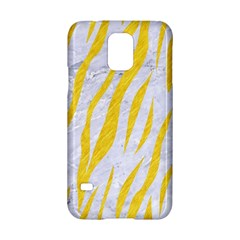Skin3 White Marble & Yellow Colored Pencil (r) Samsung Galaxy S5 Hardshell Case  by trendistuff