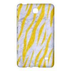 Skin3 White Marble & Yellow Colored Pencil (r) Samsung Galaxy Tab 4 (7 ) Hardshell Case  by trendistuff