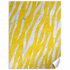 Skin3 White Marble & Yellow Colored Pencil Canvas 12  X 16   by trendistuff
