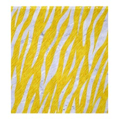 Skin3 White Marble & Yellow Colored Pencil Shower Curtain 66  X 72  (large)  by trendistuff