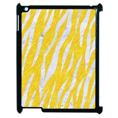 Skin3 White Marble & Yellow Colored Pencil Apple Ipad 2 Case (black) by trendistuff