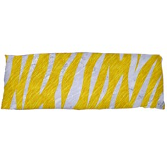 Skin3 White Marble & Yellow Colored Pencil Body Pillow Case (dakimakura) by trendistuff