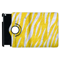 Skin3 White Marble & Yellow Colored Pencil Apple Ipad 3/4 Flip 360 Case by trendistuff