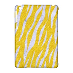 Skin3 White Marble & Yellow Colored Pencil Apple Ipad Mini Hardshell Case (compatible With Smart Cover)