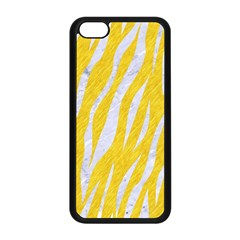 Skin3 White Marble & Yellow Colored Pencil Apple Iphone 5c Seamless Case (black)