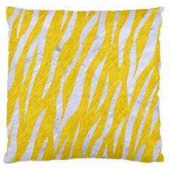 Skin3 White Marble & Yellow Colored Pencil Standard Flano Cushion Case (two Sides) by trendistuff
