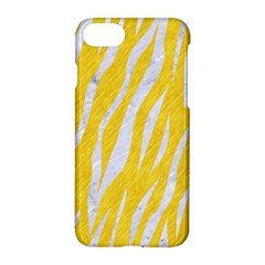 Skin3 White Marble & Yellow Colored Pencil Apple Iphone 8 Hardshell Case by trendistuff