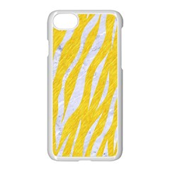 Skin3 White Marble & Yellow Colored Pencil Apple Iphone 8 Seamless Case (white) by trendistuff