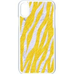 Skin3 White Marble & Yellow Colored Pencil Apple Iphone X Seamless Case (white) by trendistuff