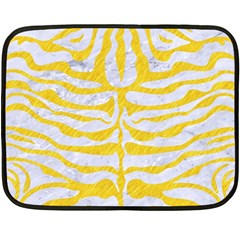 Skin2 White Marble & Yellow Colored Pencil (r) Double Sided Fleece Blanket (mini)  by trendistuff