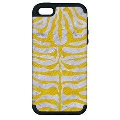 Skin2 White Marble & Yellow Colored Pencil (r) Apple Iphone 5 Hardshell Case (pc+silicone) by trendistuff