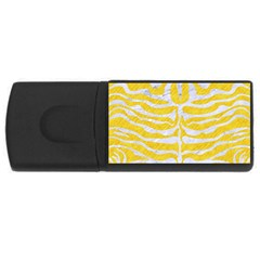 Skin2 White Marble & Yellow Colored Pencil Rectangular Usb Flash Drive by trendistuff