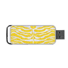 Skin2 White Marble & Yellow Colored Pencil Portable Usb Flash (two Sides)