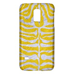 Skin2 White Marble & Yellow Colored Pencil Galaxy S5 Mini by trendistuff