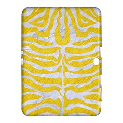 Skin2 White Marble & Yellow Colored Pencil Samsung Galaxy Tab 4 (10 1 ) Hardshell Case  by trendistuff