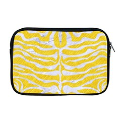 Skin2 White Marble & Yellow Colored Pencil Apple Macbook Pro 17  Zipper Case by trendistuff