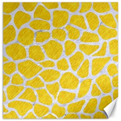 Skin1 White Marble & Yellow Colored Pencil (r) Canvas 16  X 16   by trendistuff