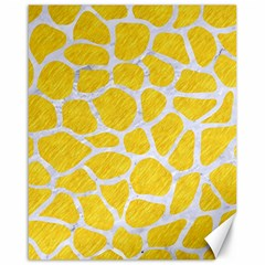Skin1 White Marble & Yellow Colored Pencil (r) Canvas 16  X 20   by trendistuff
