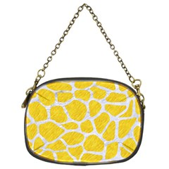 Skin1 White Marble & Yellow Colored Pencil (r) Chain Purses (one Side)  by trendistuff