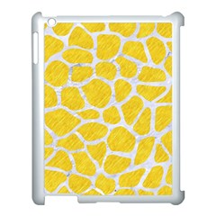 Skin1 White Marble & Yellow Colored Pencil (r) Apple Ipad 3/4 Case (white) by trendistuff