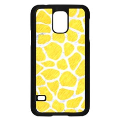 Skin1 White Marble & Yellow Colored Pencil (r) Samsung Galaxy S5 Case (black) by trendistuff