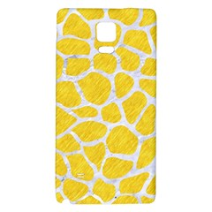 Skin1 White Marble & Yellow Colored Pencil (r) Galaxy Note 4 Back Case by trendistuff