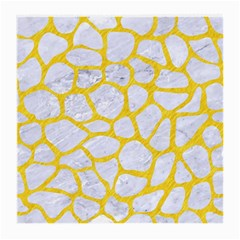 Skin1 White Marble & Yellow Colored Pencil Medium Glasses Cloth (2 Side) by trendistuff