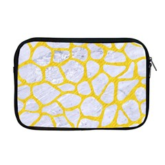 Skin1 White Marble & Yellow Colored Pencil Apple Macbook Pro 17  Zipper Case by trendistuff