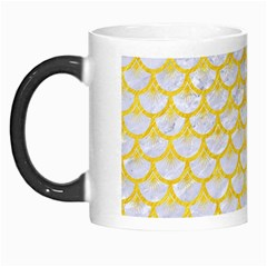 Scales3 White Marble & Yellow Colored Pencil (r) Morph Mugs by trendistuff