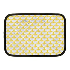 Scales3 White Marble & Yellow Colored Pencil (r) Netbook Case (medium)  by trendistuff