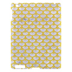 Scales3 White Marble & Yellow Colored Pencil (r) Apple Ipad 3/4 Hardshell Case by trendistuff