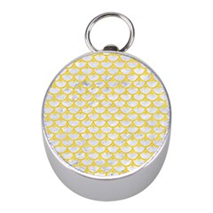 Scales3 White Marble & Yellow Colored Pencil (r) Mini Silver Compasses by trendistuff