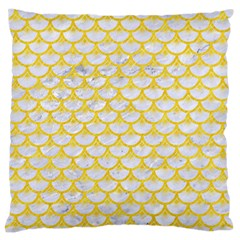 Scales3 White Marble & Yellow Colored Pencil (r) Standard Flano Cushion Case (one Side) by trendistuff