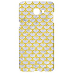 Scales3 White Marble & Yellow Colored Pencil (r) Samsung C9 Pro Hardshell Case  by trendistuff