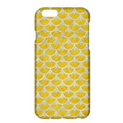 Scales3 White Marble & Yellow Colored Pencil Apple Iphone 6 Plus/6s Plus Hardshell Case by trendistuff
