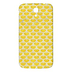 Scales3 White Marble & Yellow Colored Pencil Samsung Galaxy Mega I9200 Hardshell Back Case by trendistuff