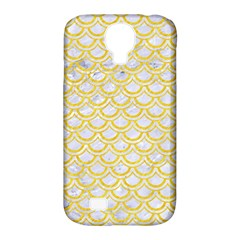 Scales2 White Marble & Yellow Colored Pencil (r) Samsung Galaxy S4 Classic Hardshell Case (pc+silicone) by trendistuff