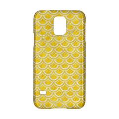 Scales2 White Marble & Yellow Colored Pencil Samsung Galaxy S5 Hardshell Case  by trendistuff