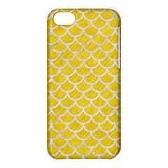 Scales1 White Marble & Yellow Colored Pencil Apple Iphone 5c Hardshell Case by trendistuff