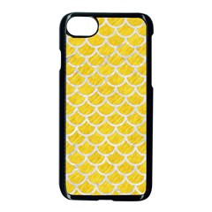 Scales1 White Marble & Yellow Colored Pencil Apple Iphone 7 Seamless Case (black) by trendistuff